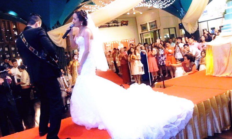เปิดตัวบ่าวสาว-งานแต่งงาน-ร้องเพลง