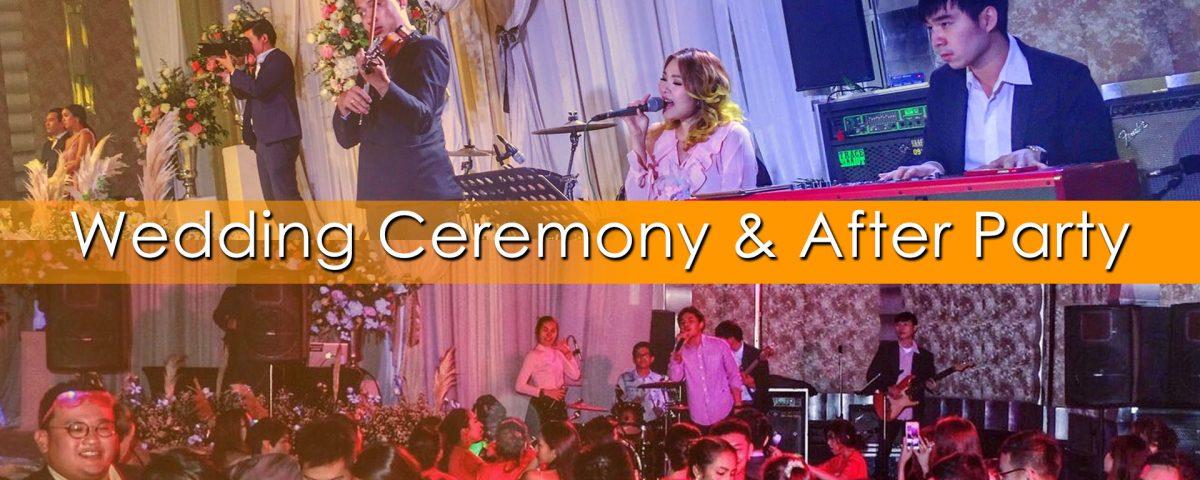 วงดนตรีงานแต่ง ช่วงพิธีการ อาฟเตอร์ปาร์ตี้ pup pa da